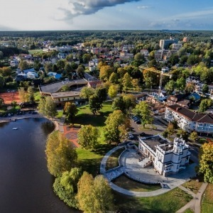 Hot air balloon ride over Druskininkai