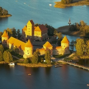 Hot air balloon ride over Trakai